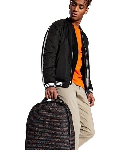 Armani Exchange Armani Exchange 952083 Cc012 03620 Polyester Logo Baskılı Erkek Sırt Çantası Siyah